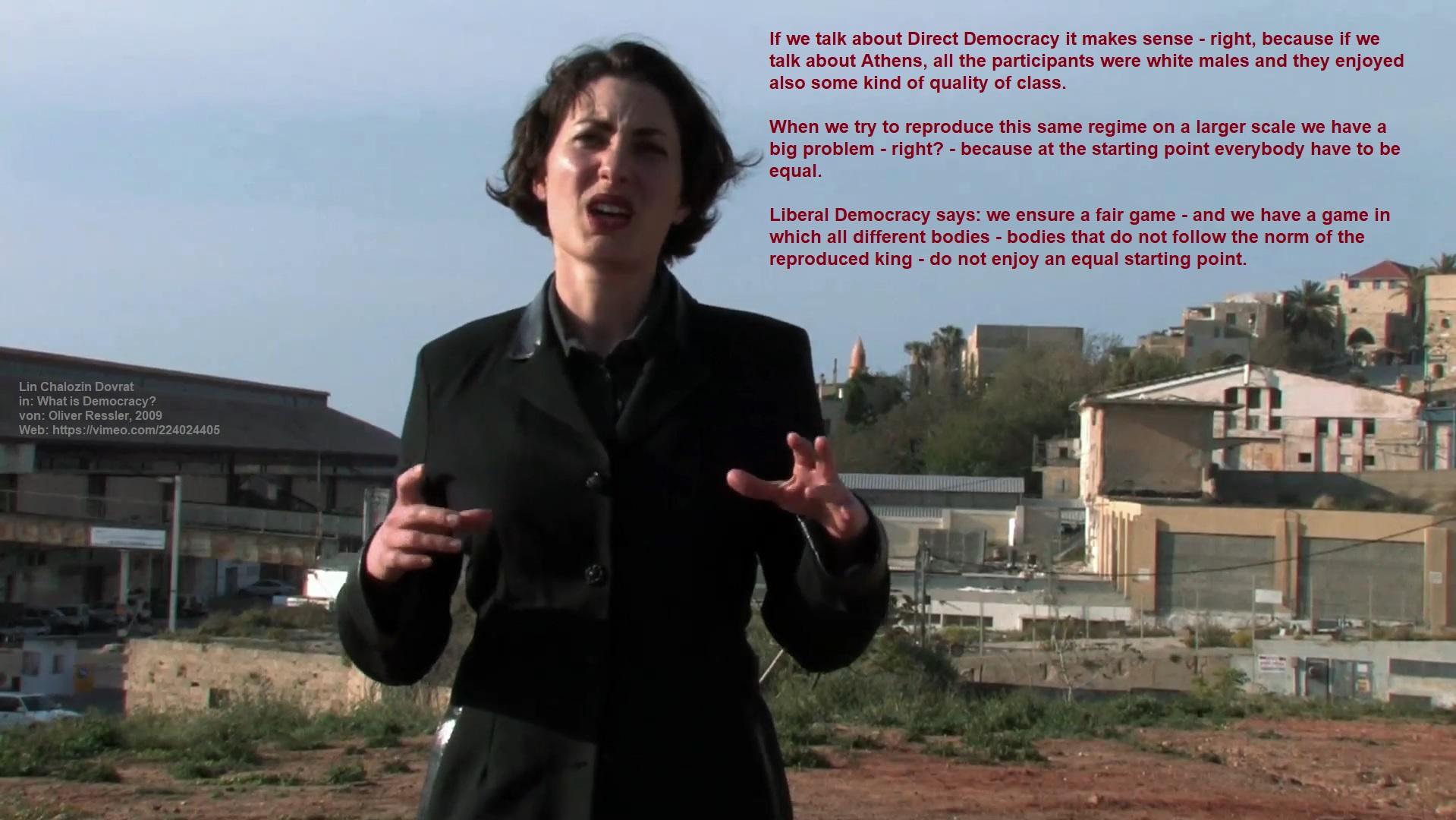 2009_Lin-Chalozin-Dovrat_in_What-is-Democracy